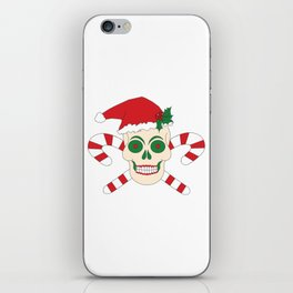 Creepy Christmas Santa Skull iPhone Skin