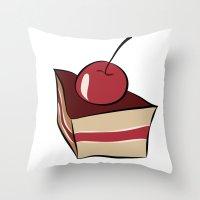 cake Throw Pillows featuring cake by Irina  Romanovsky