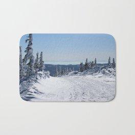skiing track Bath Mat