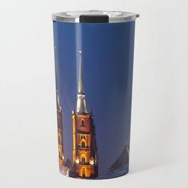 Wrocław Cathedral @night Travel Mug