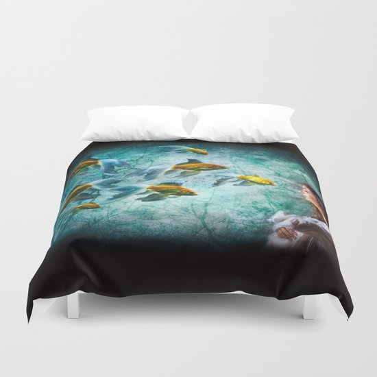 Ocean Deep Dreaming Duvet Cover