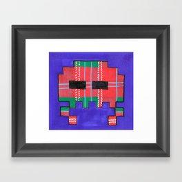 Tartan Invader #1 Framed Art Print