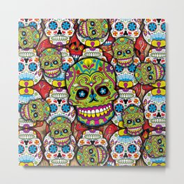 Sugar Skulls Metal Print