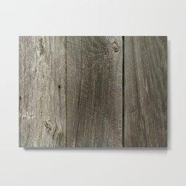 Weathered Barn Wood Door Metal Print