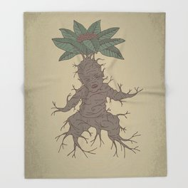 Mandragora Throw Blanket