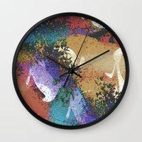 australia Wall Clocks featuring Australia by Art Dissolution