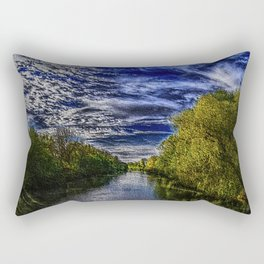 Branch River at Forestdale, Rhode Island Landscape Painting by Jeanpaul Ferro Rectangular Pillow