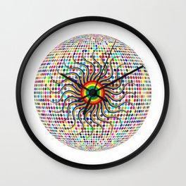 Rainbow Eye Disco Ball Wall Clock
