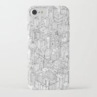 city iPhone & iPod Cases featuring Isometric Urbanism pt.1 by Herds of Birds