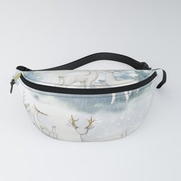 Snowy Winter Forest Fanny Pack