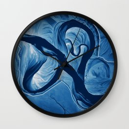 Mississippi Meander Blues 3 Wall Clock