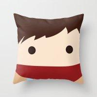 merlin Throw Pillows featuring Merlin by heartfeltdesigns by Telahmarie