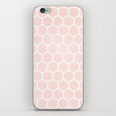 Pink Coral Honeycomb iPhone Skin
