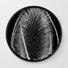 Black & White Teasel Wall Clock
