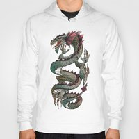 dragon Hoodies featuring dragon by Erdogan Ulker