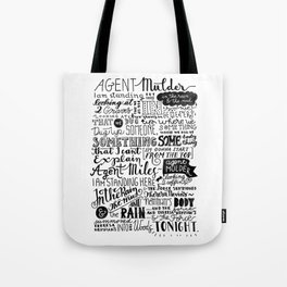 Into the woods tonight | Dana Scully Tote Bag