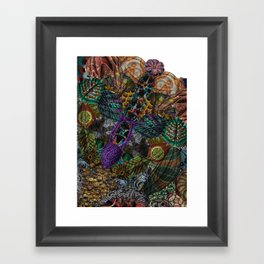 Psychedelic Botanical 12 Framed Art Print
