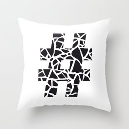 Hashtag Throw Pillow