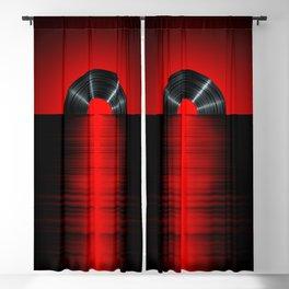 Vinyl sunset red Blackout Curtain