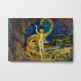 "Blake's ""Eve Tempted by the Serpent"" Metal Print"