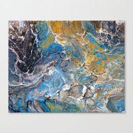 Mineralogy - Abstract Flow Acrylic Canvas Print