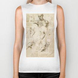 Leonardo da Vinci - Anatomy of the shoulder and neck Biker Tank