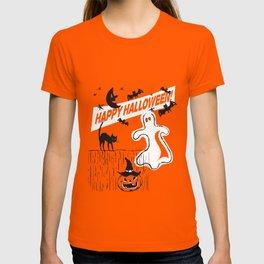 Rustic Vintage Spooky Happy Halloween T-shirt