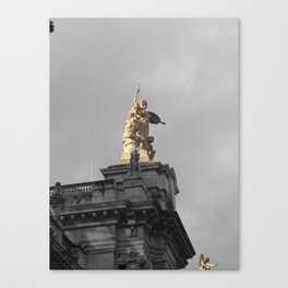 Paris architecture black and white with color GOLD Canvas Print