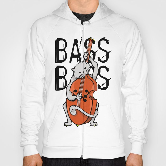 Cat Playing A Double Bass Hoody