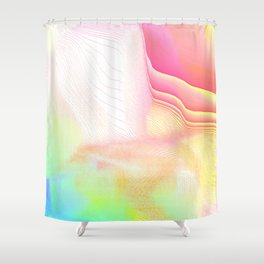 Pastel Pool Hallucination Shower Curtain