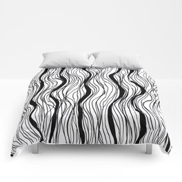 BLACK STRIPES Comforters