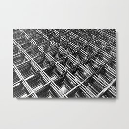 Rebar On Rebar - Industrial Abstract Metal Print