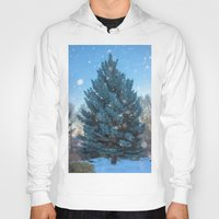 christmas tree Hoodies featuring Christmas tree  by Svetlana Korneliuk