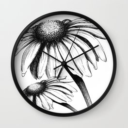 Double Cone Flower Wall Clock