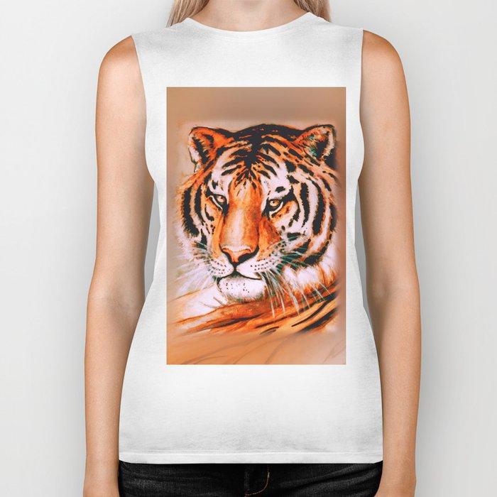 Tiger at rest Biker Tank