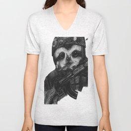 Solider Dr. Rollo-Koster, the sloth  Unisex V-Neck