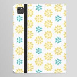Spring Yellow Blue Flower Pattern iPad Folio Case