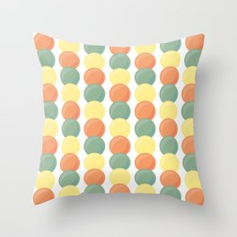 Sweet Marbles - Muted Throw Pillow
