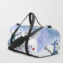 It's Snowing Cats and Dogs (and Mice too) Duffle Bag