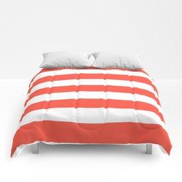 Ogre Odor - solid color - white stripes pattern Comforters