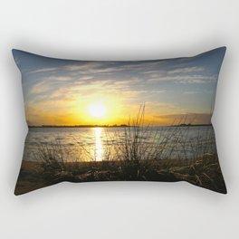 Estuary Sunset Rectangular Pillow