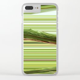 Green Strips Abstract Clear iPhone Case