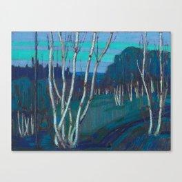 Tom Thomson Silver Birches Canadian Landscape Artist Canvas Print