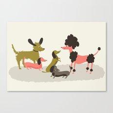 Canine conversations Canvas Print
