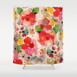 joyful floral decor Shower Curtain