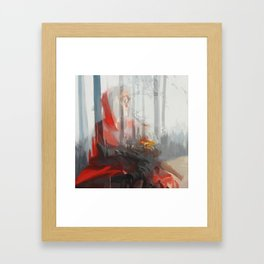 My baby (Red Riding Hood) Framed Art Print