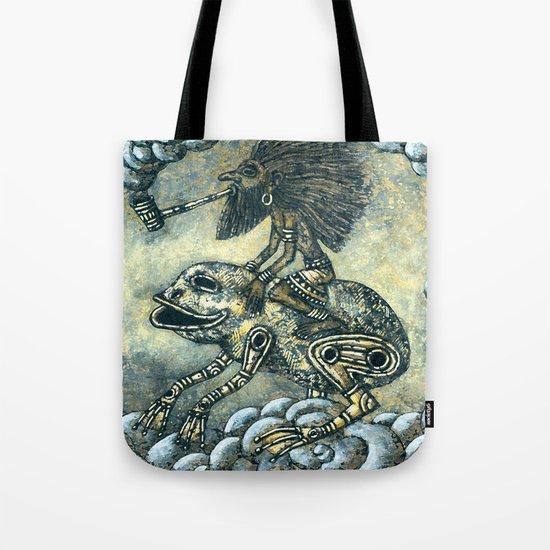 Cloudy Road Tote Bag