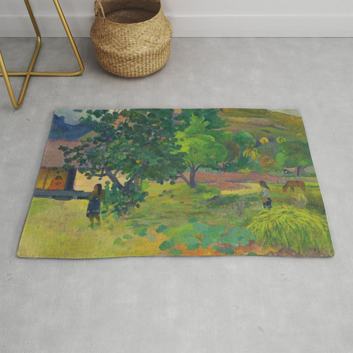"Paul Gauguin ""Te Fare (La maison)"" Rug"