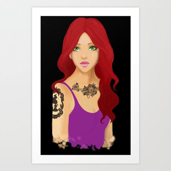 Ariel Tattooed Art Print