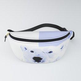 polar ice bear vector art cool blue Fanny Pack